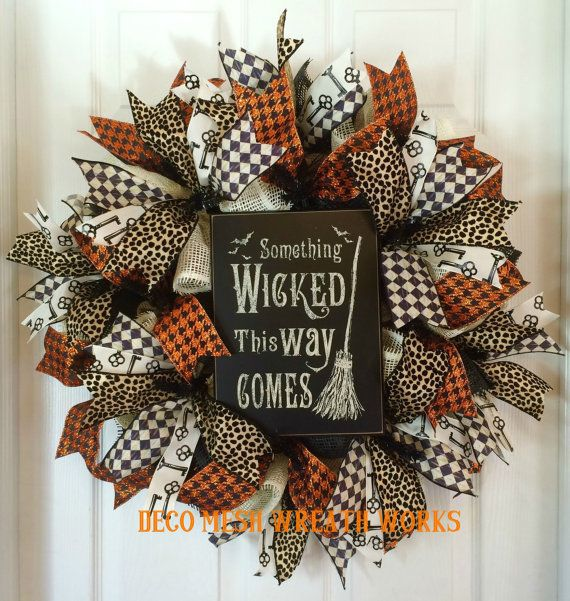 Hey, I found this really awesome Etsy listing at https://www.etsy.com/listing/225234700/halloween-wreath-halloween-wreaths-witch