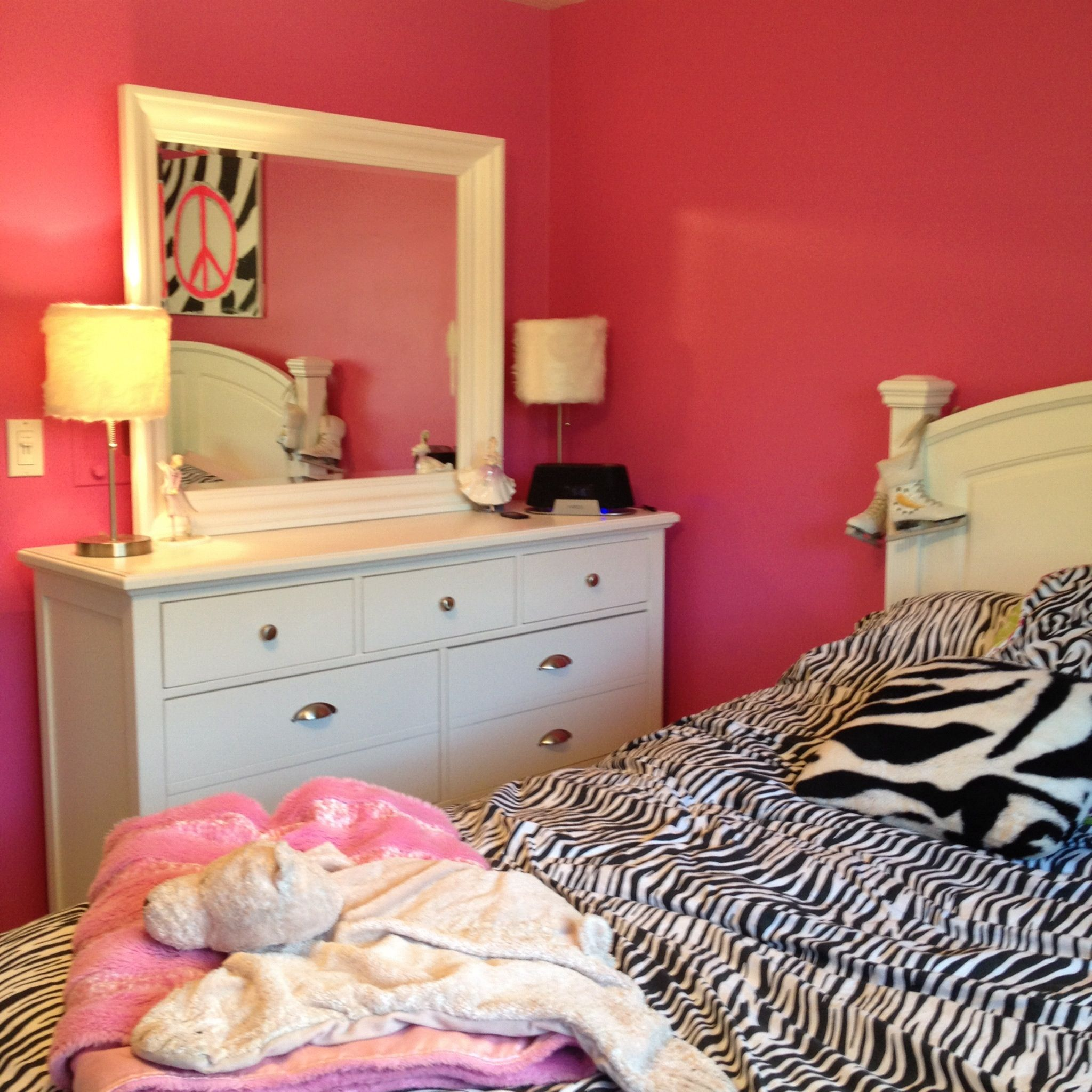 Zebra Bedroom With Peace Sign!!!