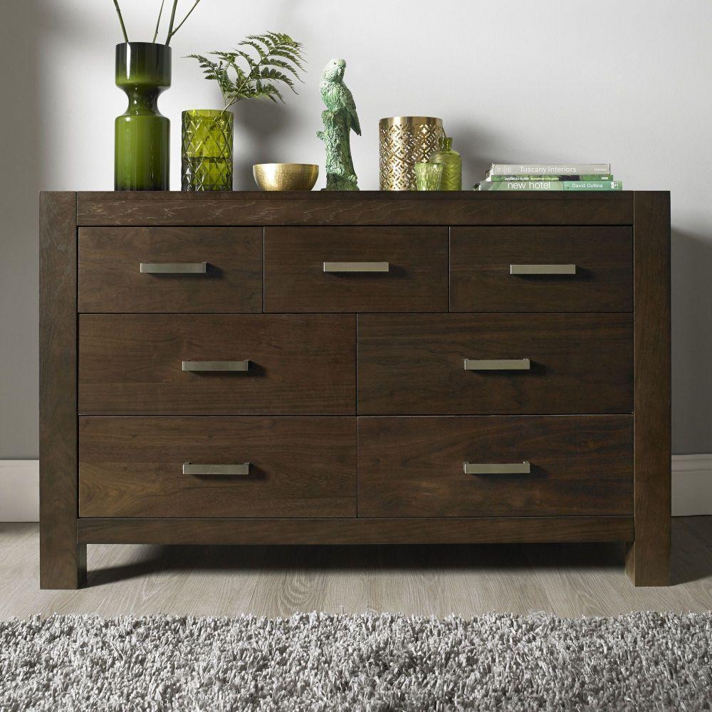 bentley designs lyon walnut chest of drawer 4 3 drawer interior