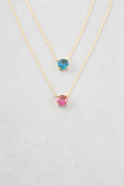 Star pendant blue ombre necklace  unique elegant jewelry  handmade necklace