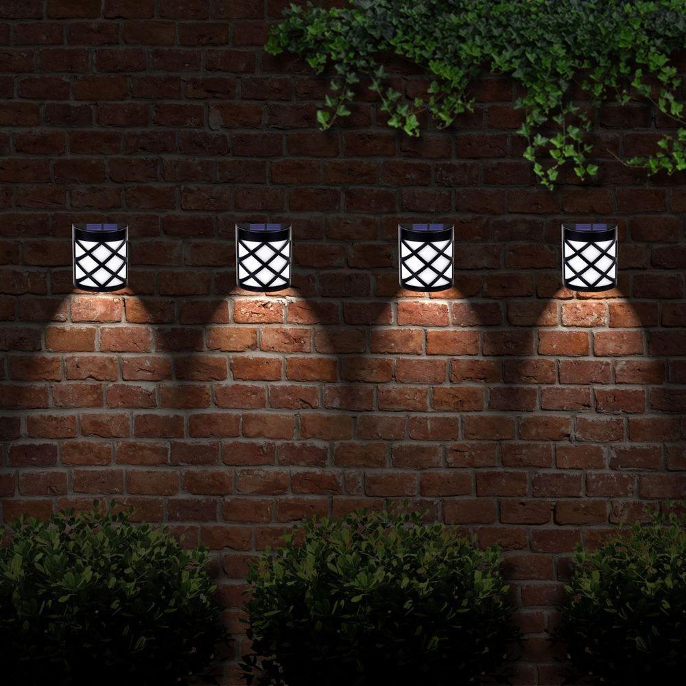 The Light Will Turn On Automatically At Dusk And Off Dawn 6 Led Solar Fence Light Each Solar Light Prov Fence Lighting Solar Fence Lights Solar Lights Garden