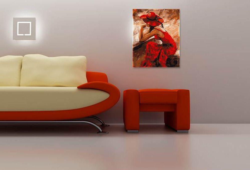 Картина по номерам «Леди в красном» Эмерико Тота - купить ...