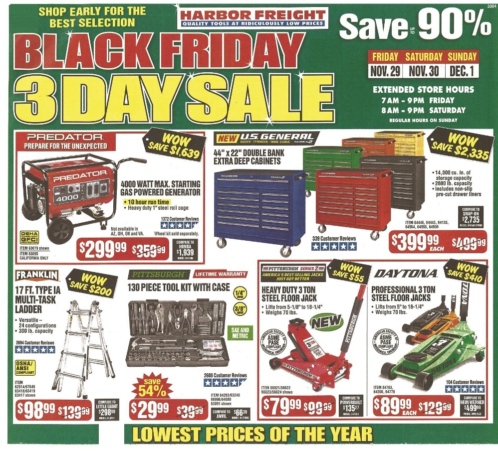 Harbor Freight Black Friday 2020 Ad Deals And Sales Black Friday 2019 Black Friday Holiday Store