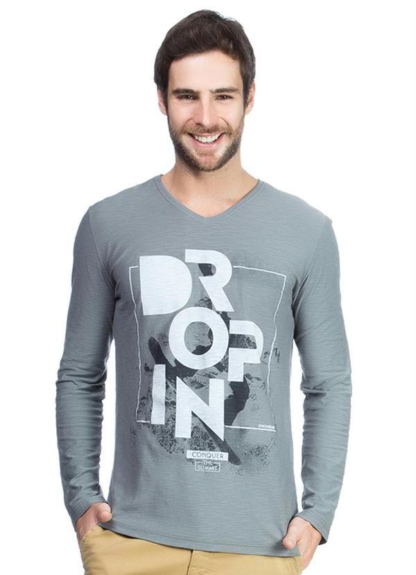 71f886f12a Camiseta Slim Masculina Verde Enfim - Malwee