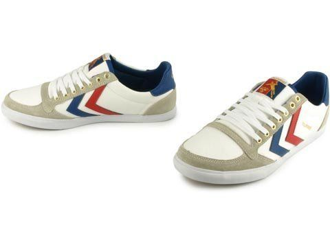 HUMMEL STREET STYLE RETRO STADIL LOW CUT SNEAKER IN WHITE/BLUE/RED 63111