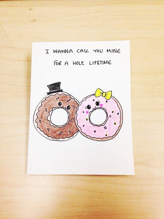 Cute Valentine card hand drawn just for your husband boyfriend – Pretty Valentines Cards