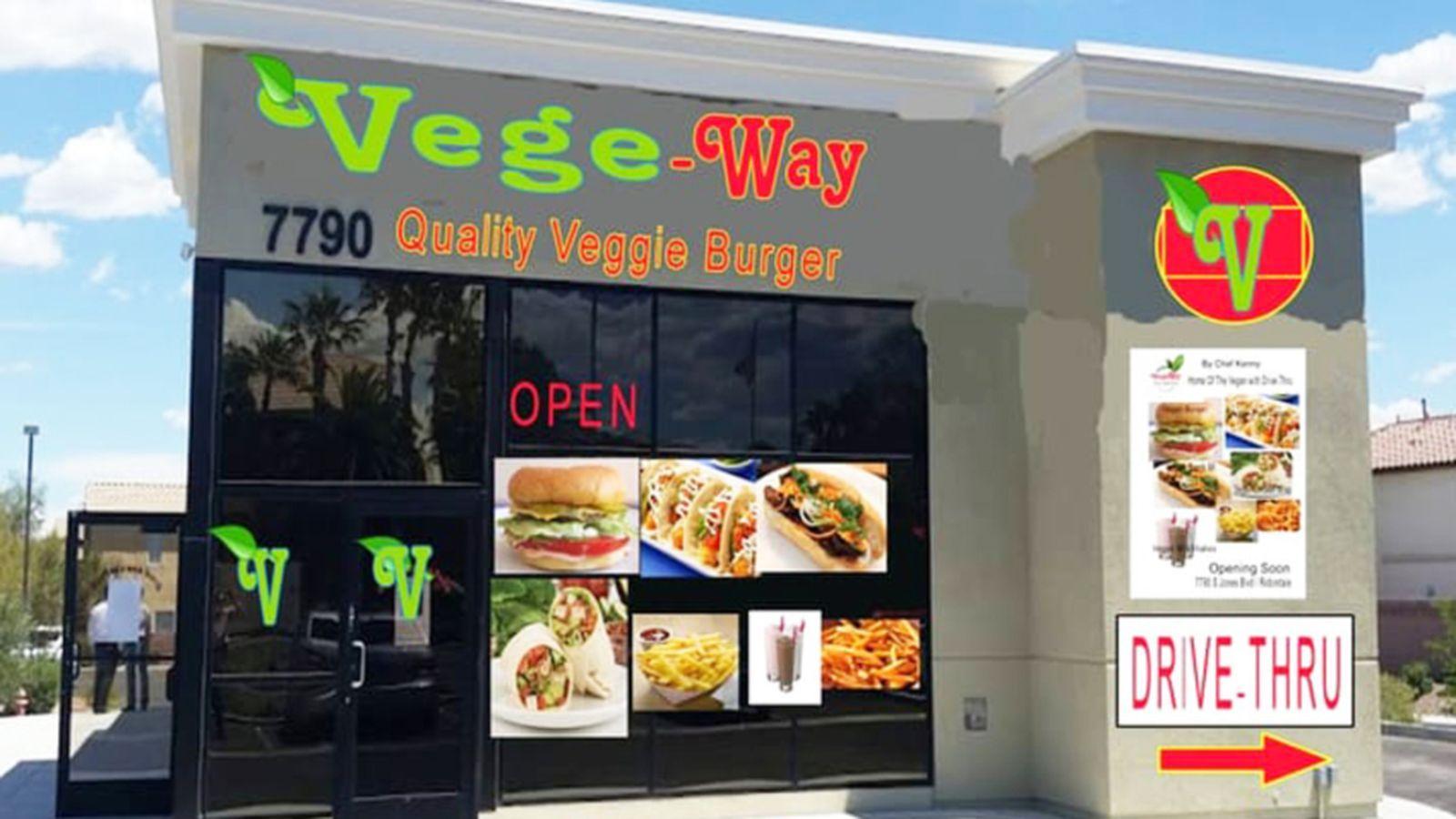 Vegeway Debuts Plant Based Fast Food And Drive Thru Burger Vegan Restaurants Vegan Travel