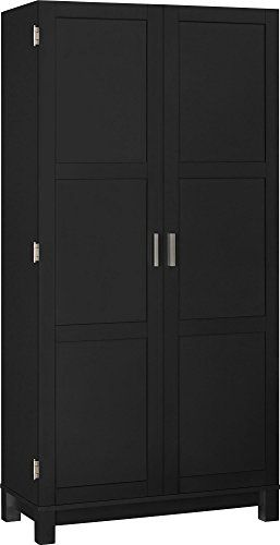 Ameriwood Home Carver 64 Storage Cabinet Black For More Information Visit Image Link Craftro Wood Storage Cabinets Large Storage Cabinets Altra Furniture
