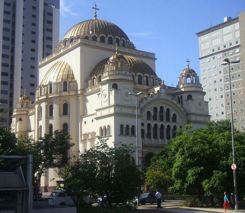 Inaugurada Em 1954 A Catedral Ortodoxa De São Paulo Foi Inspirada Na Igreja De Santa Sofia Construção Bizantina Igreja Ortodoxa Igreja Ortodoxa Grega Igreja