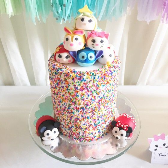 This Disney Tsum Tsum Party Is The Perfect Rainbow Birthday Party