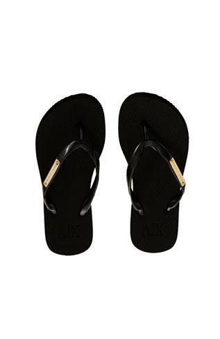 f6dc2cd3cd6354 Logo Plate Flip Flop - Shoes - Accessories - Armani Exchange