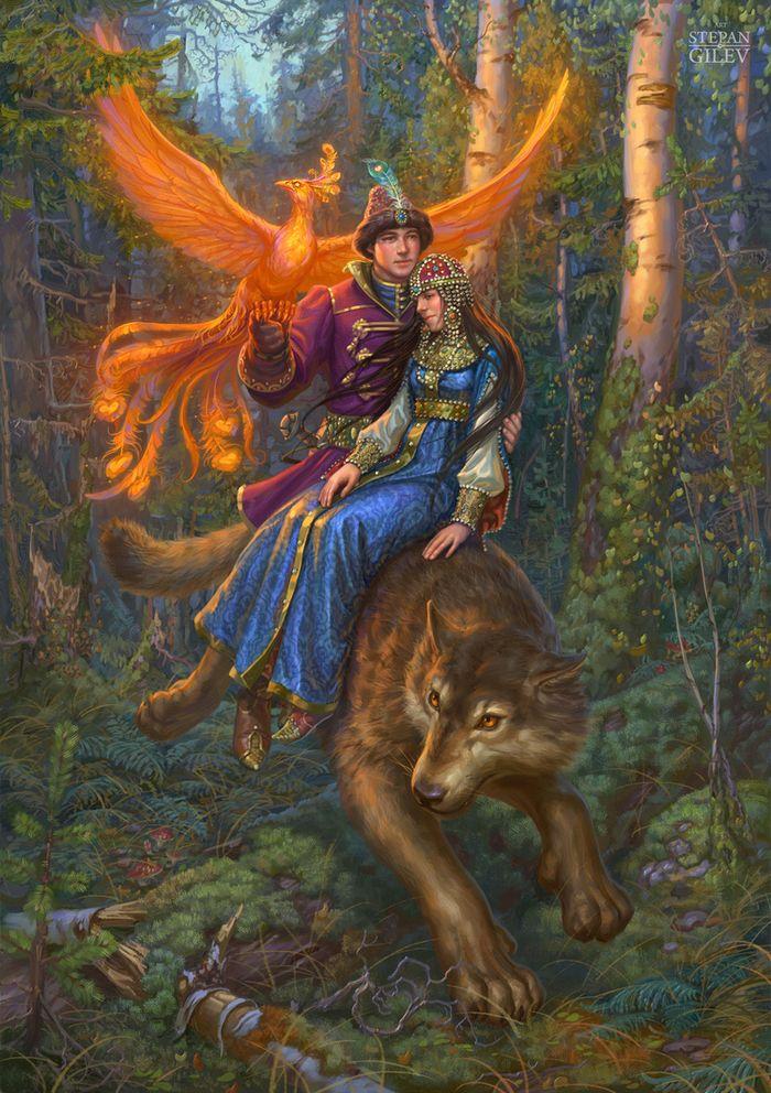 Для, иван царевич и серый волк сказка в картинках