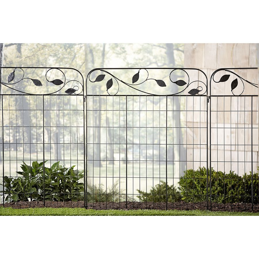 Shop No Dig Black Powder Coated Steel Fence Panel Common