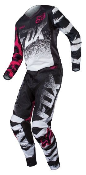 Fox Racing 2015 Womens 180 Jersey and Pants Package - Black Pink ... 7560d4b56