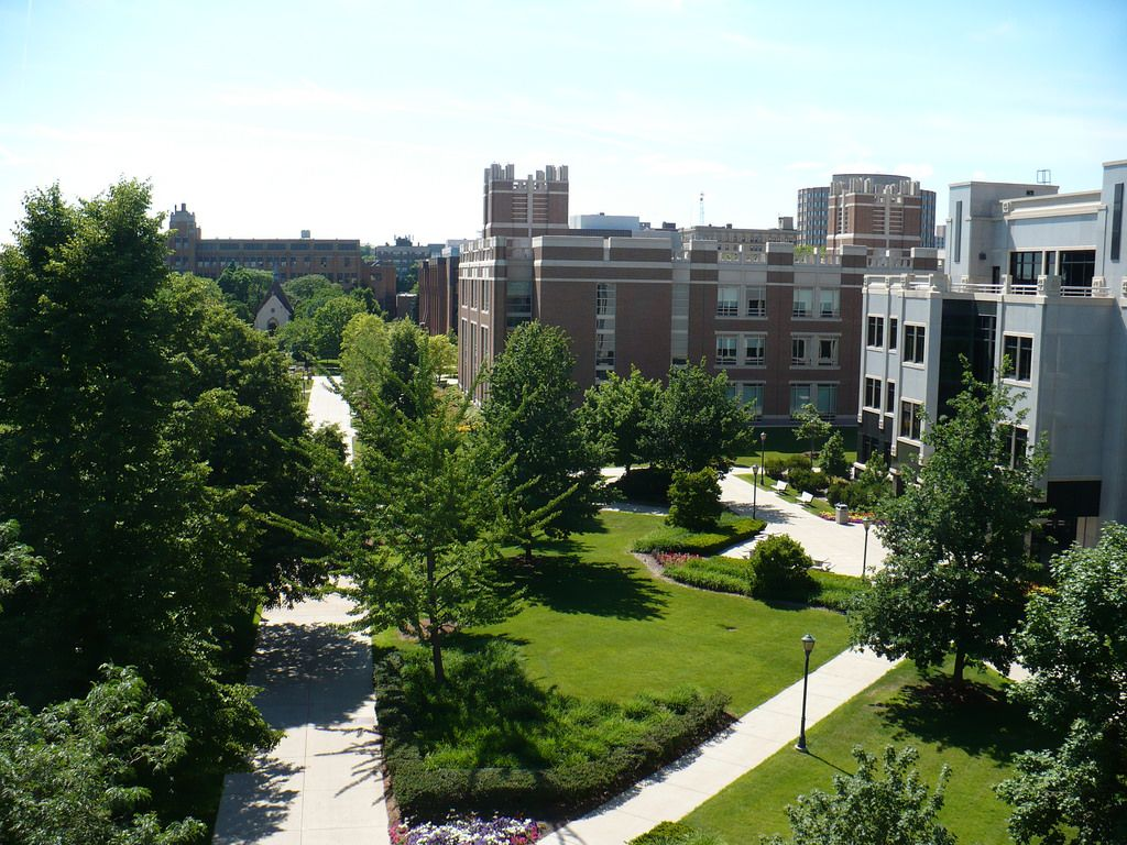 Campus View From Straz Hall Classroom 502 Campus Marquette University Views