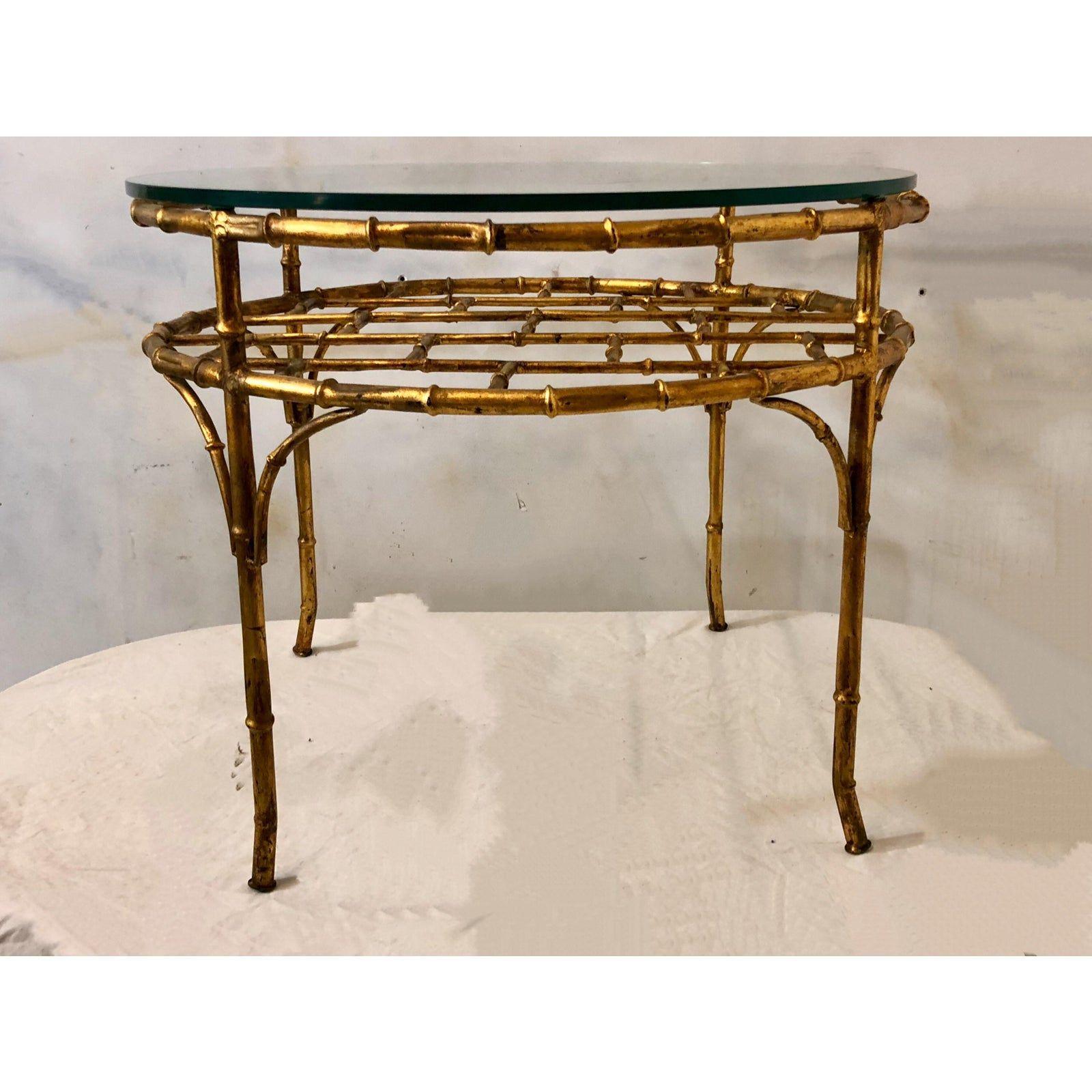 Gilt Metal Faux Bamboo Coffee Table Chairish Bamboo Coffee Table Table Coffee Table [ 1600 x 1600 Pixel ]