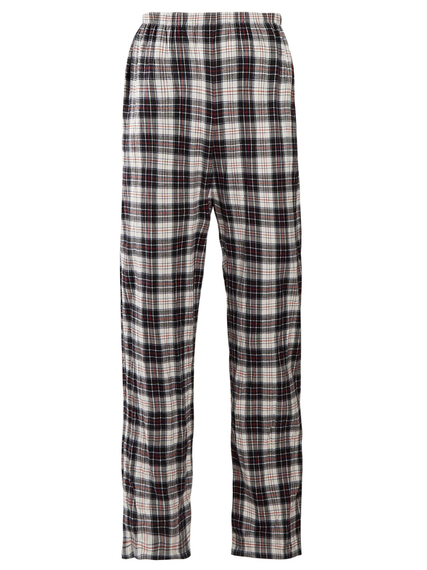 bdfdb667f58c Checked high-rise brushed cotton trousers