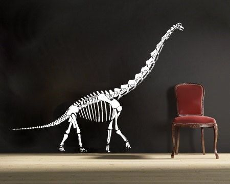 Large Brachiosaurus Dinosaur Vinyl Wall DECAL Museum Interior - Custom vinyl wall decals dinosaur