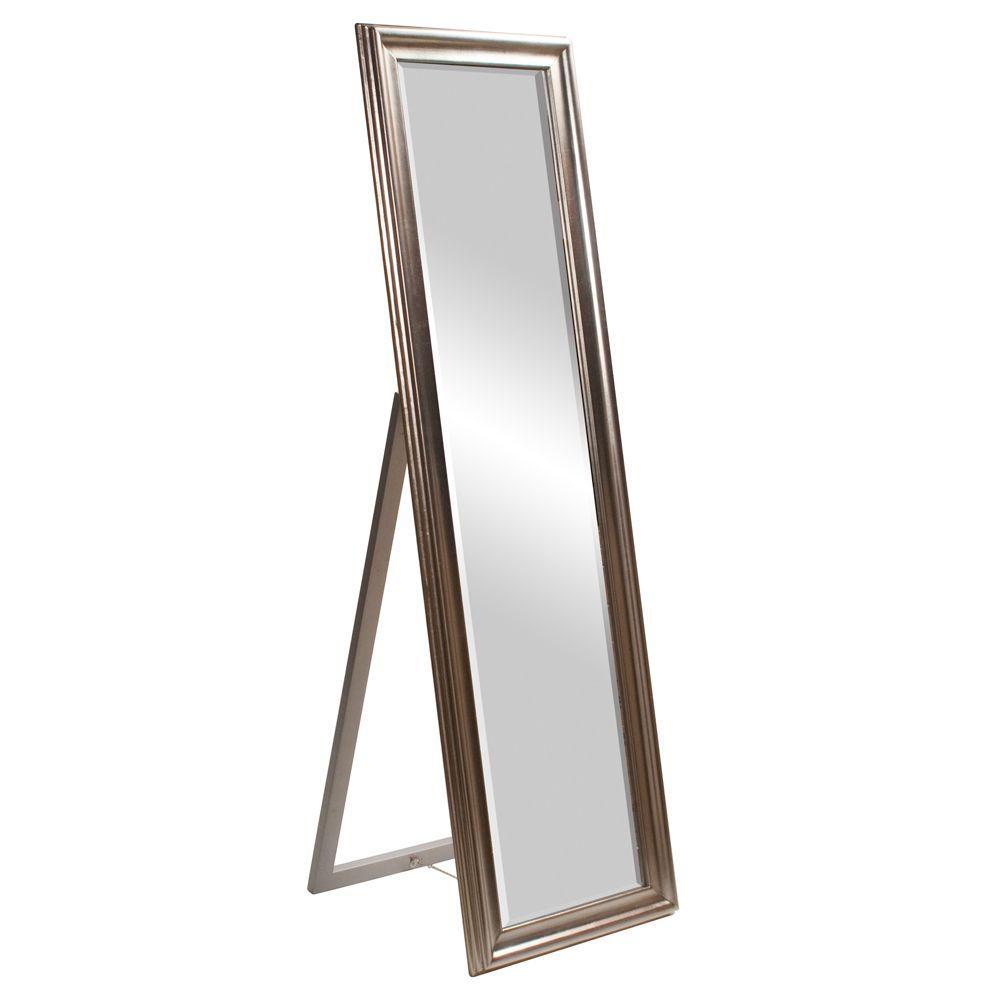 60 In X 20 In Silver Standing Wood Framed Mirror 56019 Floor