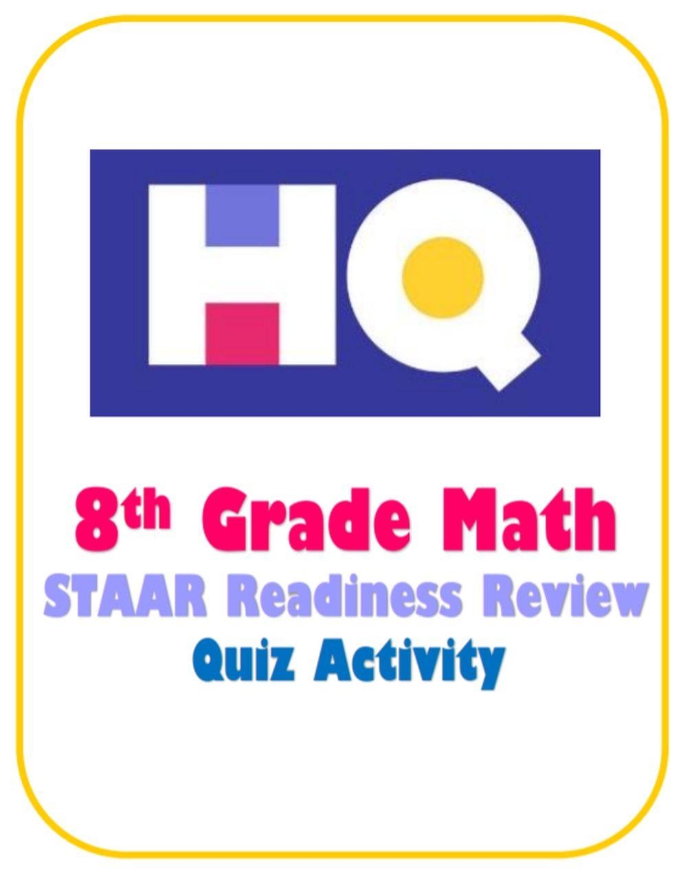 8th Grade Hq Staar Review In 2020 Staar Review Staar Staar Math [ 1280 x 994 Pixel ]