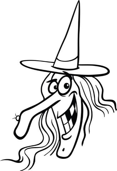 Printable Halloween Witch Coloring Page For Kids Witch Coloring
