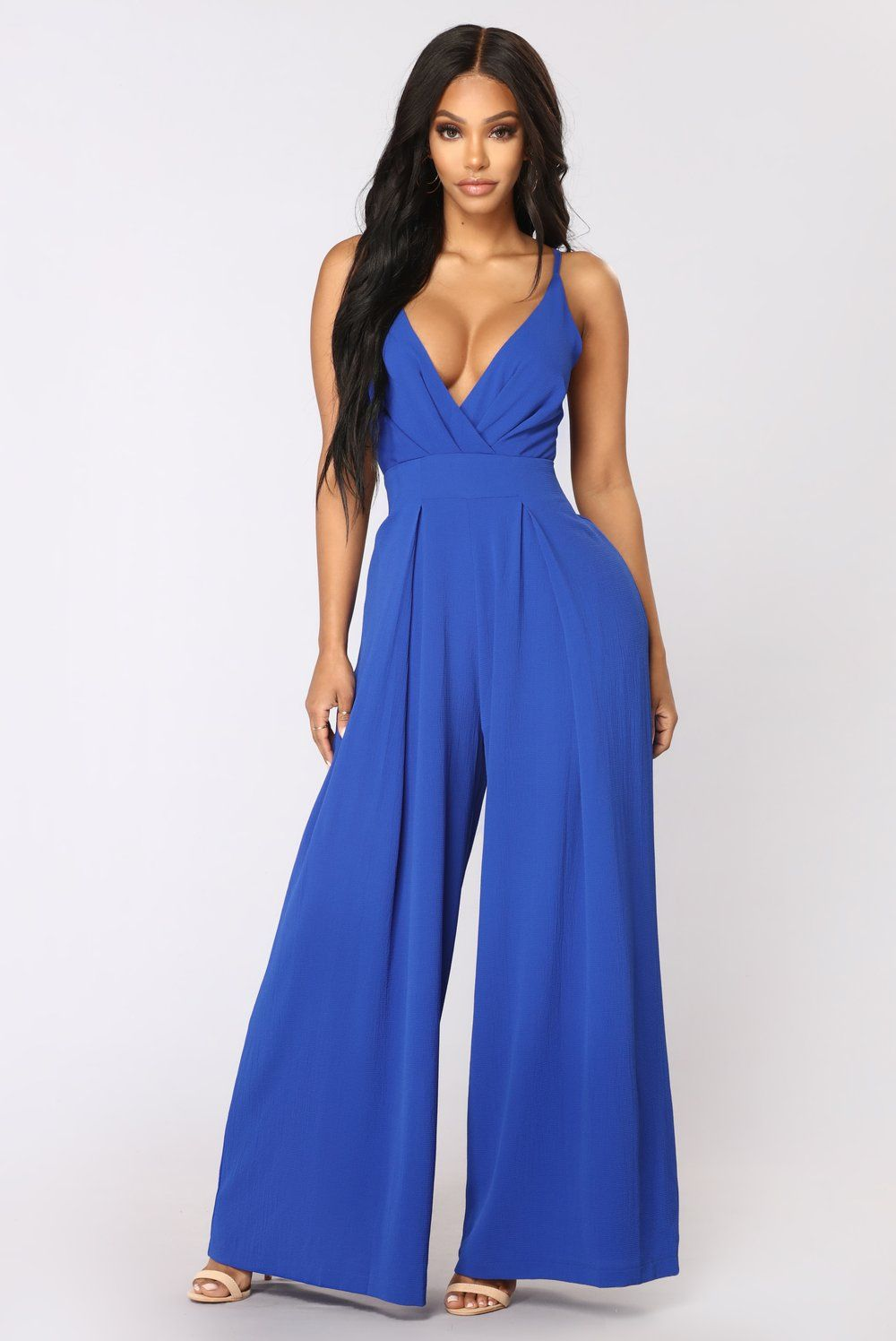 fe074f889a2 Strike A Pose Tie Jumpsuit - Royal