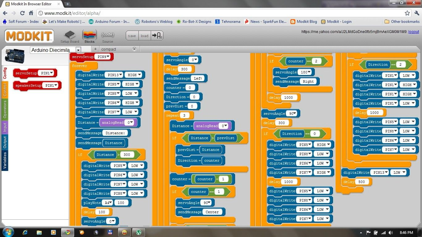 Modkit New Graphical Programming Environment For Arduino