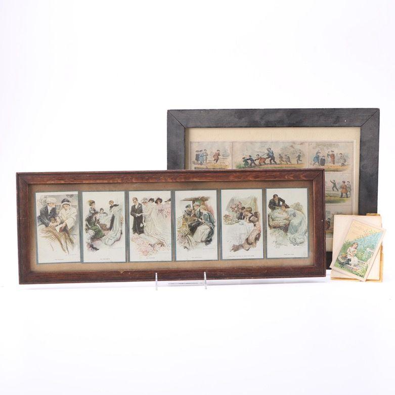 Harrison Fischer framed cards like I had....ebth    25.00