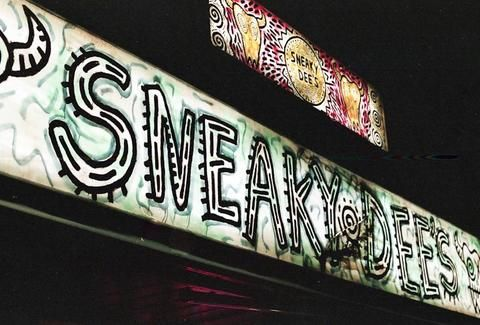 Sign outside Sneaky Dee's