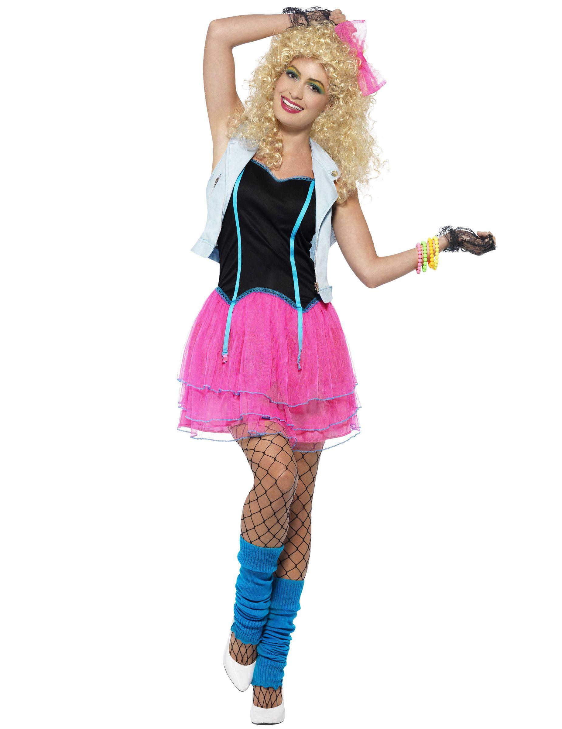 Disfraz rosa y negro años 80 mujer | Cantantes y Actores famosos ...