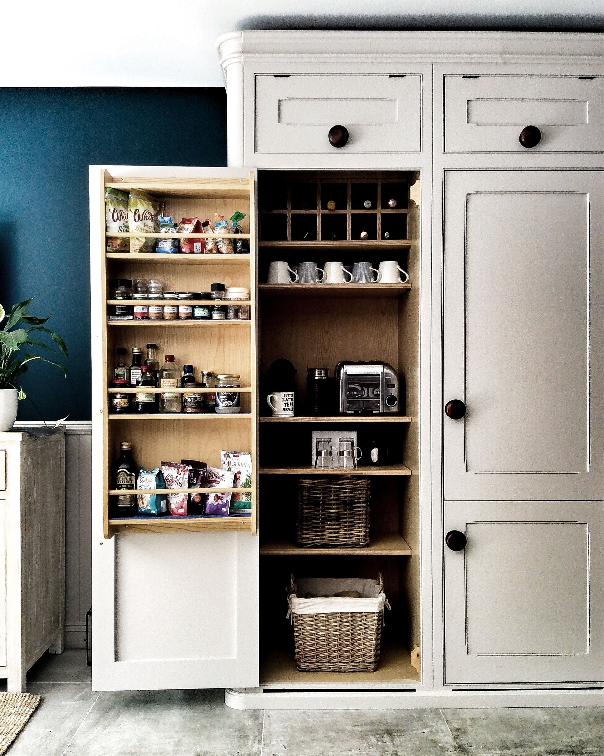 Pantry Organisation. Adding An Appliance Shelf To This