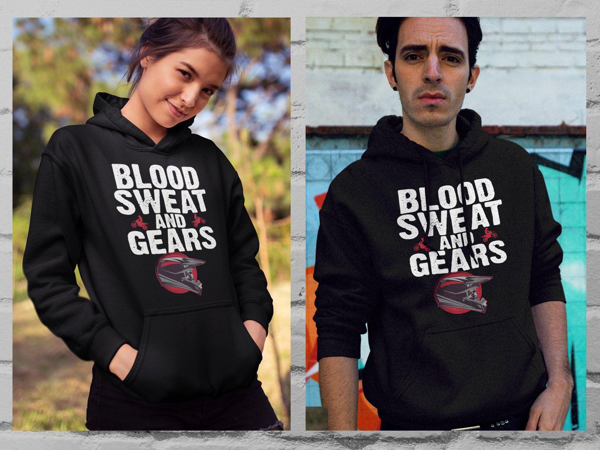 Blood sweat and gears motocross dirt bike racing rider