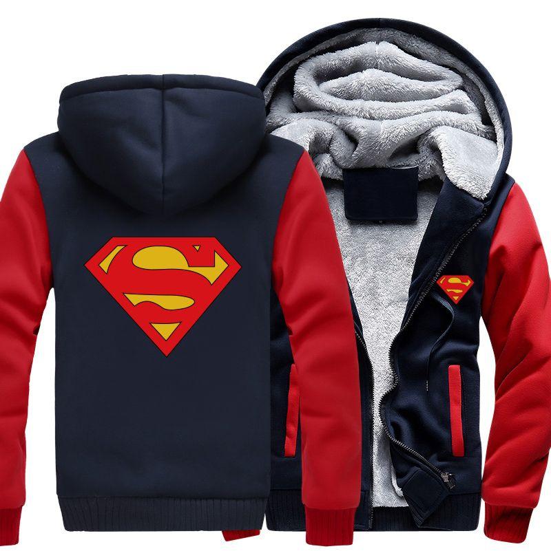 0c3f354596f Superman Zipper Jacket Sweatshirts   Fashion Coat in 2019   Hoodies ...