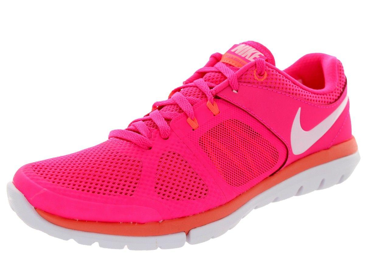 buy online 54207 bce6c cool Nike Women s Flex 2014 Rn Hyper Pink White Bright Mango Running Shoe  Women US