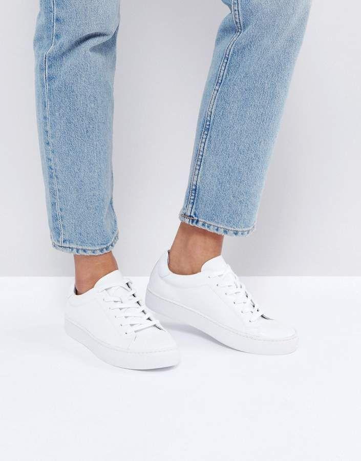 buy online 69564 17666 Vagabond Zoe Leather Sneakers in White | cute in 2019 ...