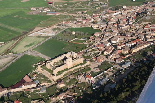 Vista aerea de Trigueros del Valle .Valladolid Spain.