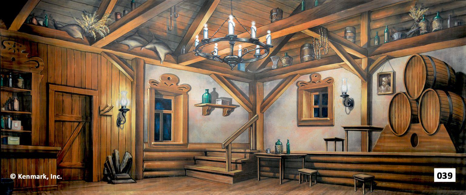 Castle Interior Design Set 039d inn Интерьер  Театральная Фон Аренда на kenmark