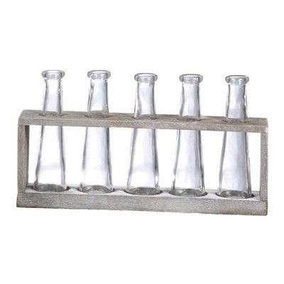 Laboratory Flower Vases, Seven Beakers - Decor Steals