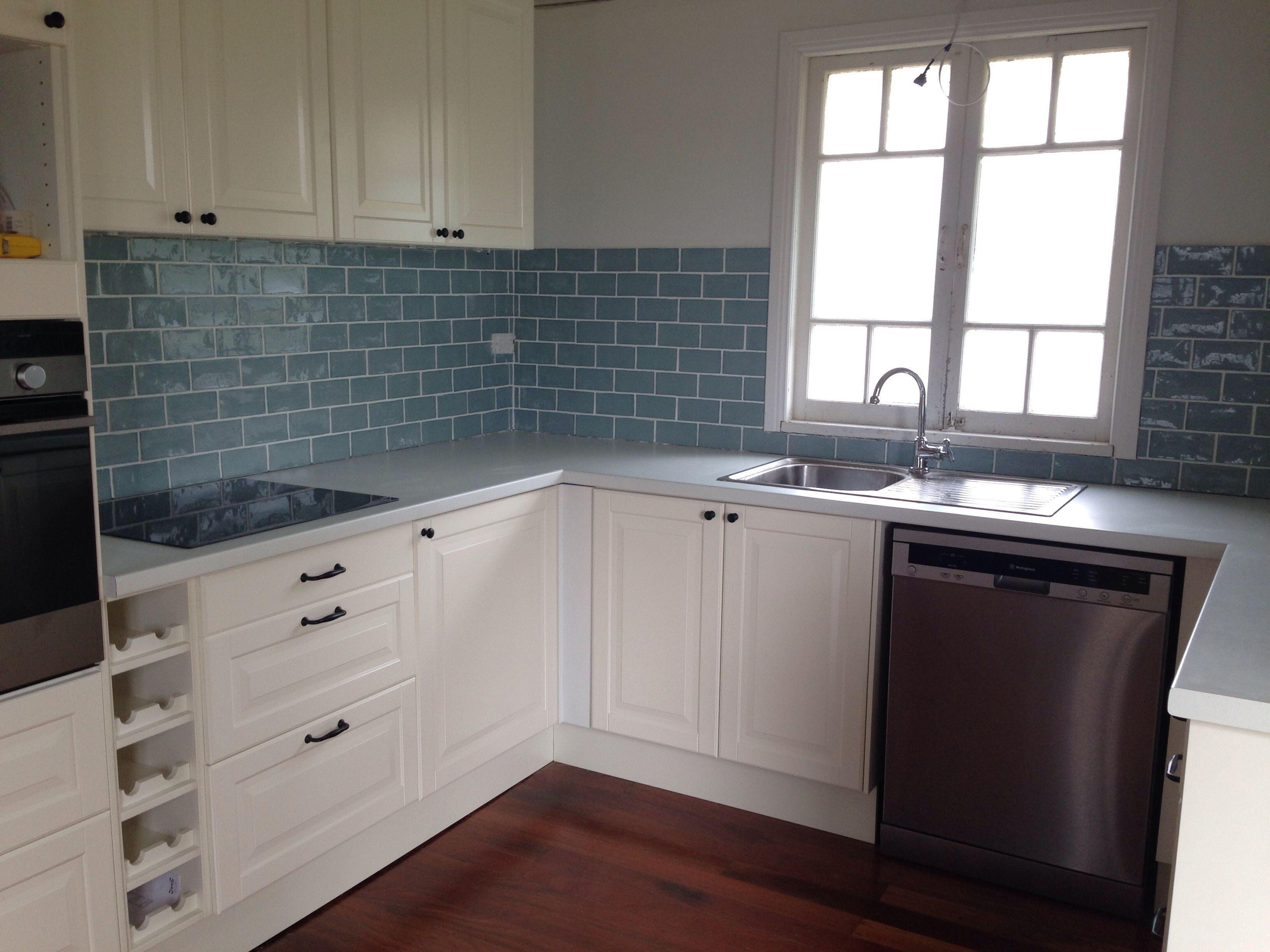 Kitchen Tiled Splashback Duck Egg Blue Splashback Tile Google Search Kitchen