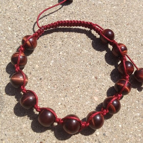 Red tiger eye bracelet from Monahy - $25.00
