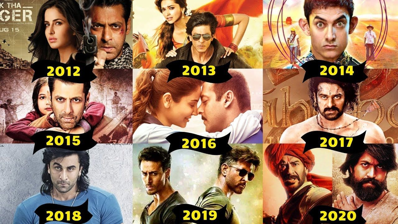 Every Year Bollywood First And Second Highest Grossing Movies List From 2010 To 2020