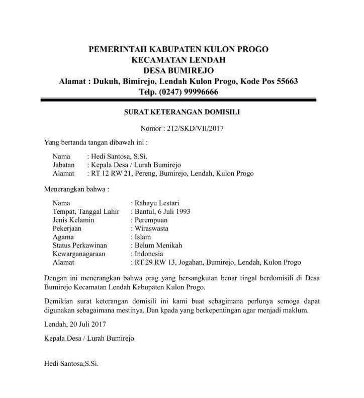 10 Contoh Surat Keterangan Domisili Pribadi Kitas Perusahaan Dan Lembaga Dari Kelurahan Desa Dan Rt Rw Contoh Surat Surat Pedesaan Pengusaha