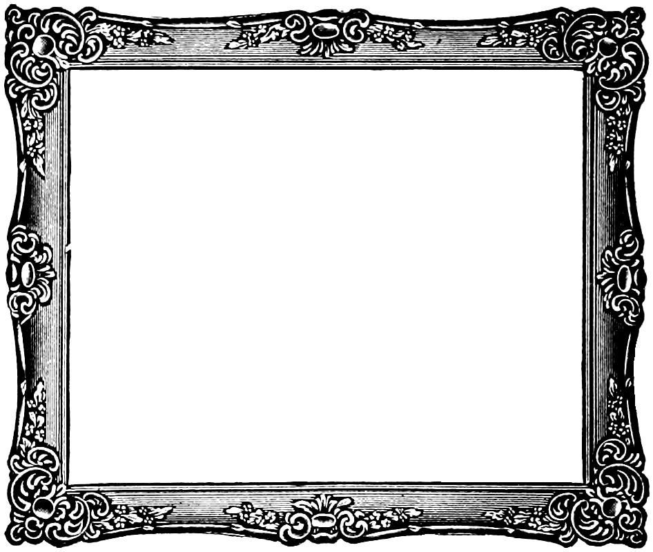 fancy painting frame black and white clip art - Google Search ...