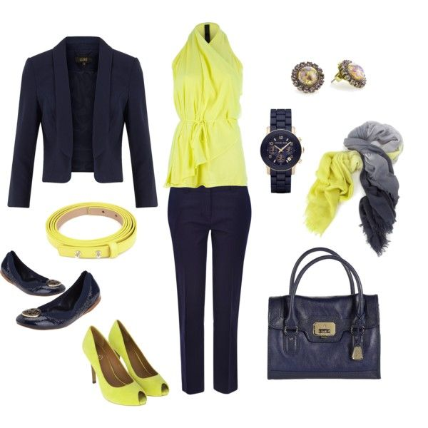 Neon and Navy