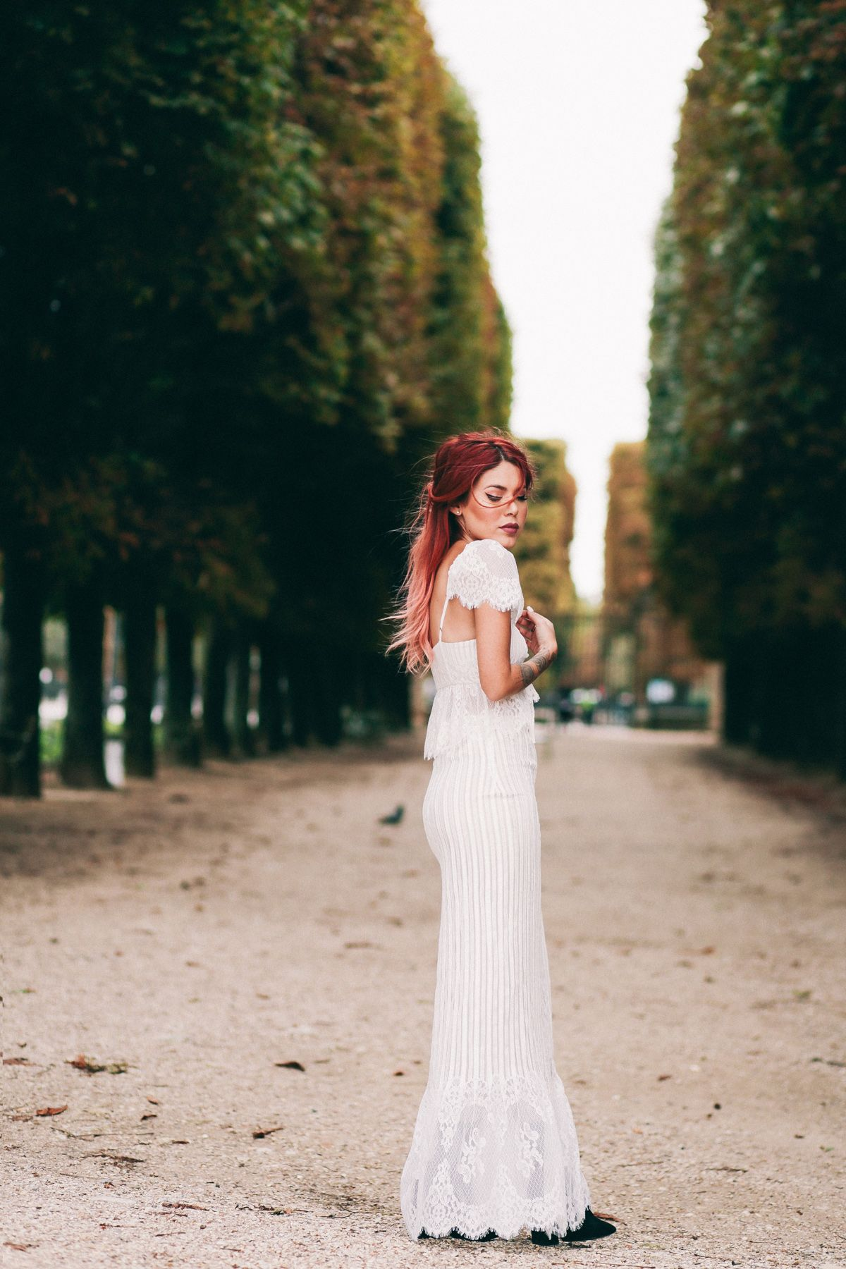 Le happy wearing a lace stone cold fox dress at the luxembourg le happy wearing a lace stone cold fox dress at the luxembourg gardens ombrellifo Choice Image