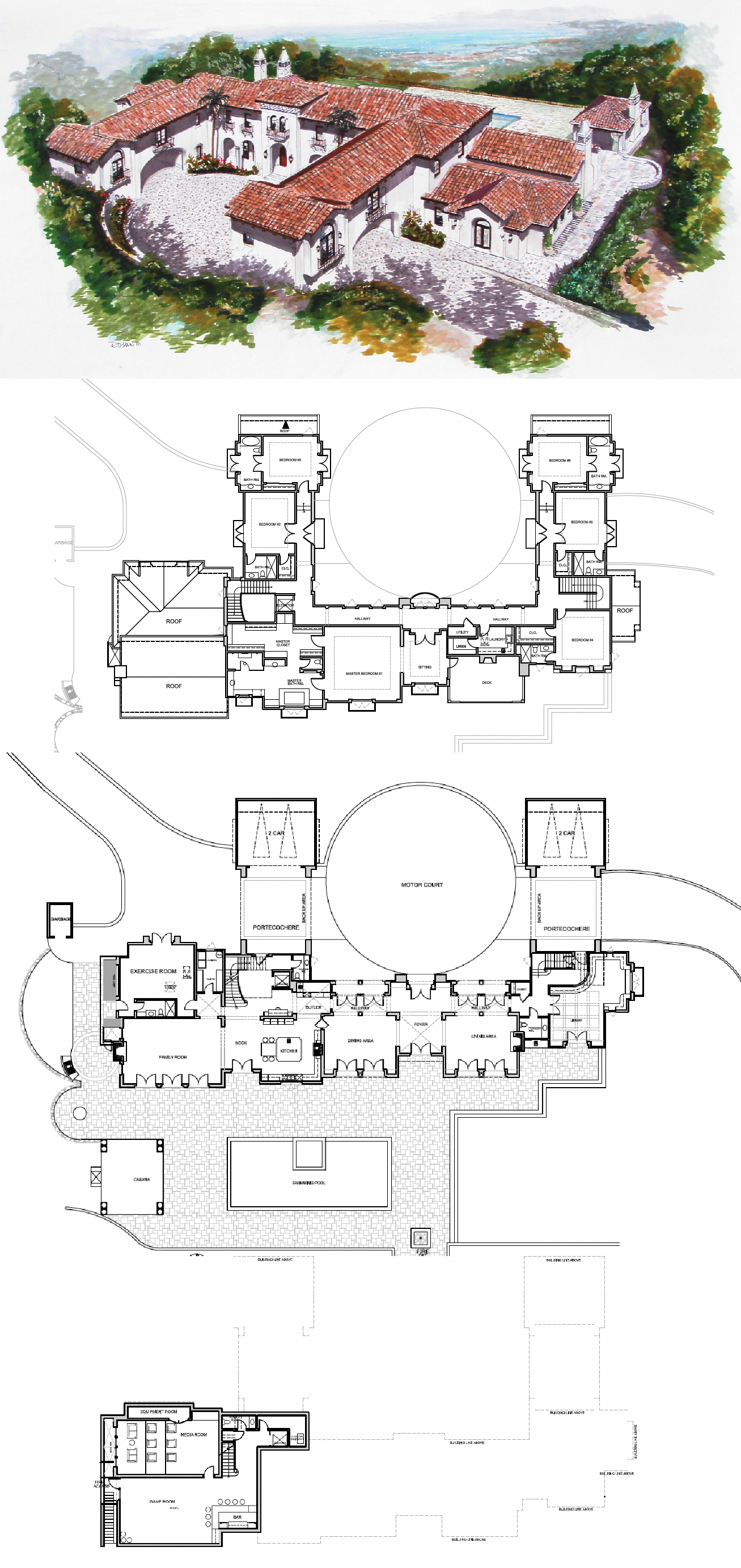Mediterraneanhomes Mansion Floor Plan Spanish Style Homes Mansion Plans