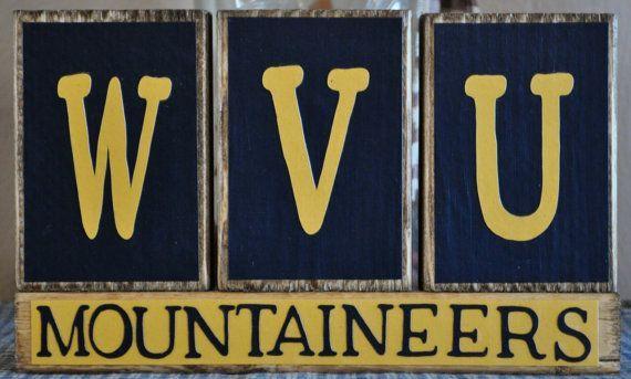 WVU Mountaineers Wood Sign #wvumountaineers . #wvumountaineers