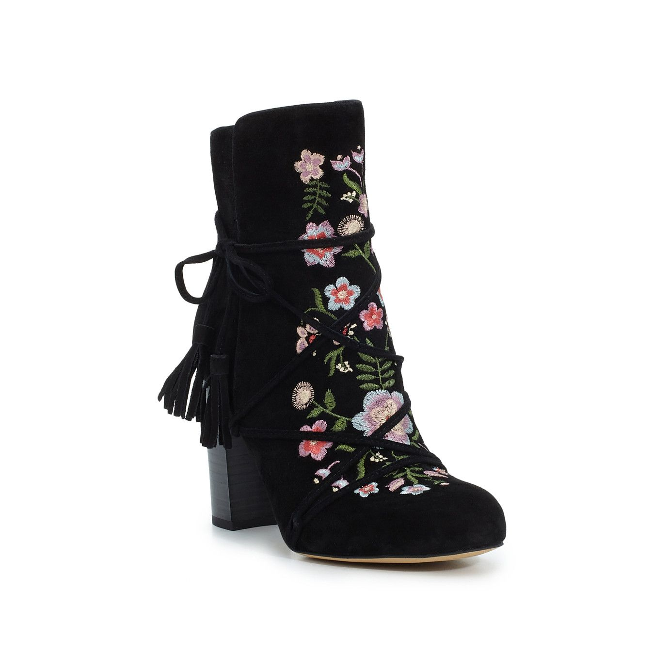 56bb6ca50d4680 Winnie Suede Embroidered Boot by Sam Edelman - Black - View 3