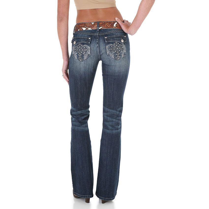 18770039904 Rock 47 by Wrangler Women's Ultra Low Rise Boot Cut Jeans | Jeans ...