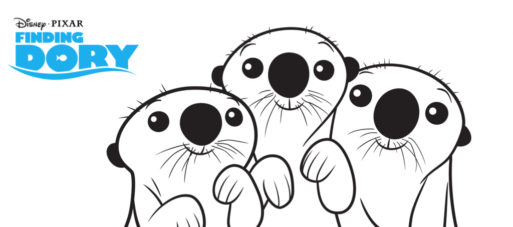 Otter Coloring Pages Disney coloring pages, Animal